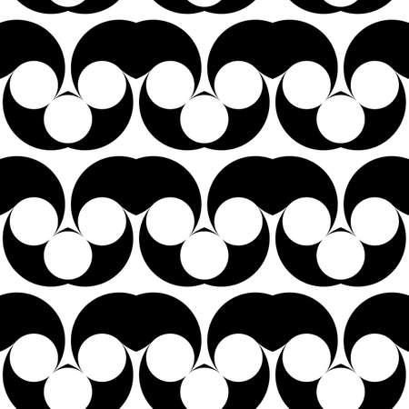 deform: Design seamless monochrome waving pattern. Abstract background. Vector art