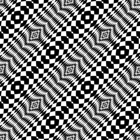 Design seamless monochrome checkered background. Abstract diagonal geometric pattern. Vector art. No gradient