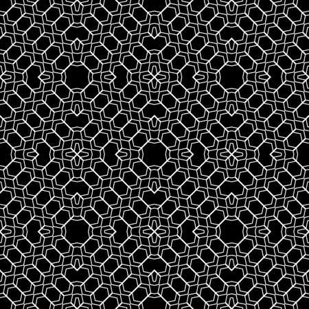 zigzag: Design seamless monochrome geometric pattern. Abstract zigzag background. Vector art Illustration