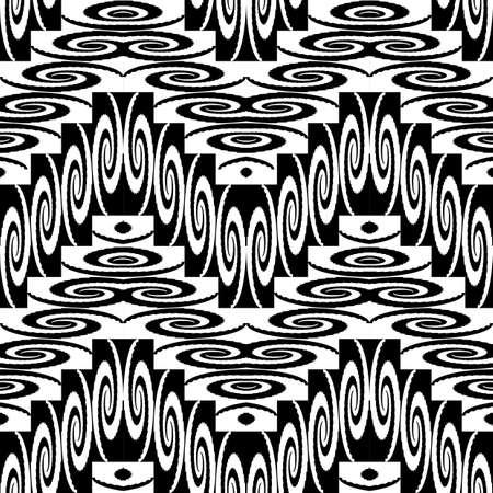 zigzag: Design seamless monochrome zigzag pattern. Abstract background. Vector art