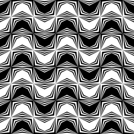 zigzag: Design seamless monochrome zigzag pattern. Abstract background. Vector art. No gradient