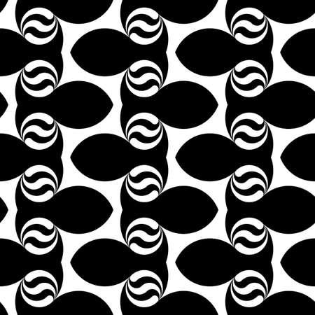zigzag: Design seamless monochrome waving pattern. Abstract zigzag background. Vector art