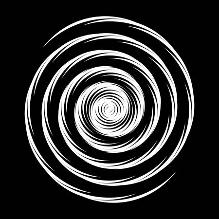 curl whirlpool: Design monochrome illusion background. Abstract stripe torsion backdrop. Vector-art illustration. No gradient