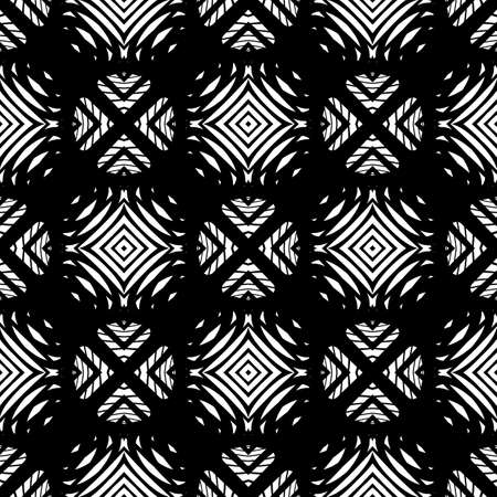 no gradient: Design seamless monochrome grid pattern. Abstract background. Vector art. No gradient