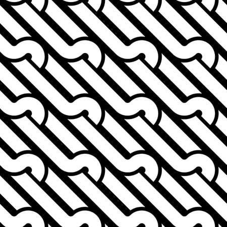 Design seamless monochrome interlaced pattern. Abstract background. Vector art Vektorové ilustrace