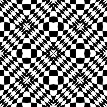 checkered volume: Design seamless monochrome geometric pattern. Abstract checker background. Vector art. No gradient