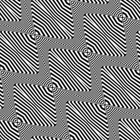 Design seamless monochrome zigzag pattern. Abstract striped background. Vector art