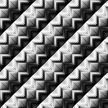 diagonal stripes: Design seamless zigzag pattern. Abstract geometric monochrome background. Vector art. No gradient