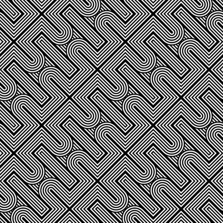 diagonal stripes: Design seamless monochrome geometric pattern. Abstract stripy background. Vector art