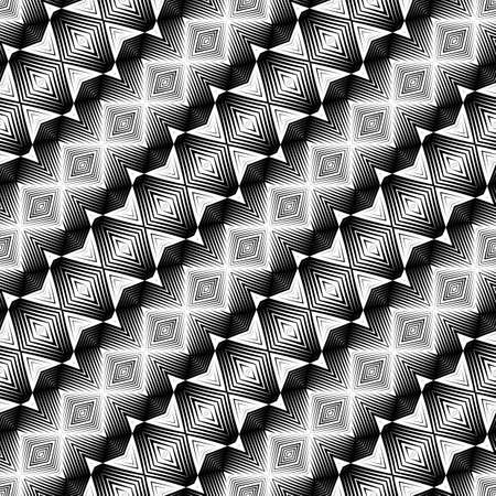 diagonal stripes: Design seamless monochrome diamond pattern. Abstract geometric background. Vector art. No gradient