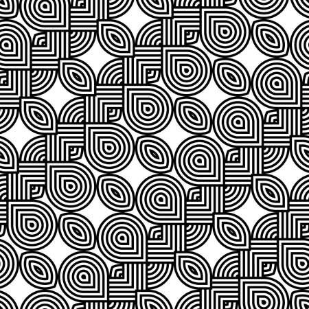 interlace: Design seamless monochrome waving pattern. Abstract stripy background. Vector art Illustration