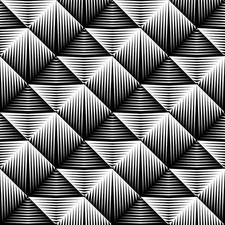 Design seamless square convex pattern. Abstract geometric monochrome background. Vector art. No gradient