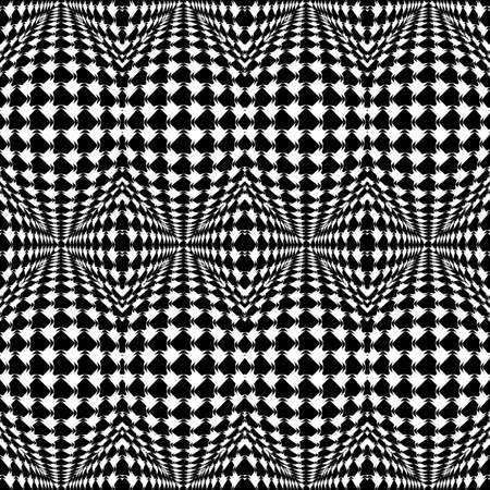 salient: Design seamless warped geometric pattern. Abstract monochrome background. Vector art. No gradient