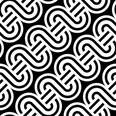 Design seamless monochrome waving pattern. Abstract background. Vector art