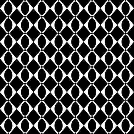 Design seamless monochrome geometric pattern. Abstract grid background. Vector art