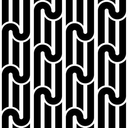 Design seamless monochrome waving pattern. Abstract background. Vector art Vektorové ilustrace