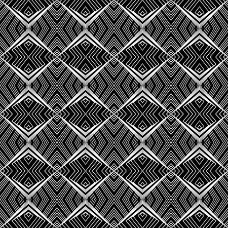diagonal: Design seamless monochrome lines pattern. Abstract geometric background. Vector art. No gradient Illustration