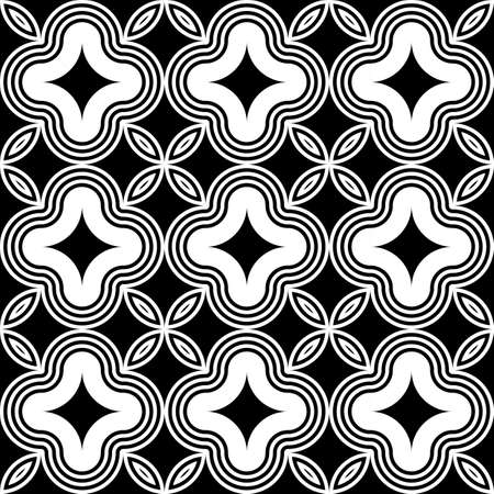 Design seamless monochrome decorative pattern. Abstract striped background. Vector art Illustration