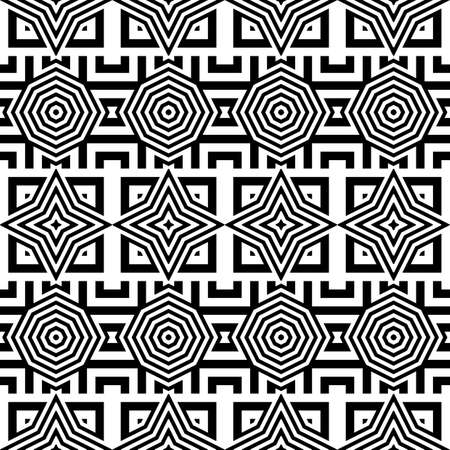 star background: Design seamless monochrome geometric pattern. Abstract striped background. Vector art