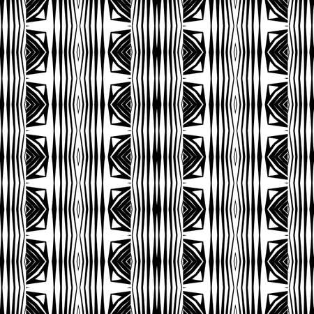 Design seamless monochrome stripy pattern. Abstract background. Vector art. No gradient Stock Vector - 79470319