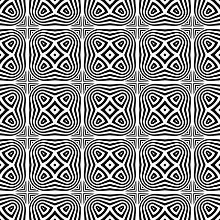Design seamless monochrome pattern. Abstract striped background. Vector art