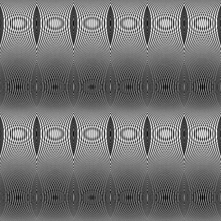 Design seamless monochrome lines textured pattern. Abstract decorative background. Vector art. No gradient Illustration