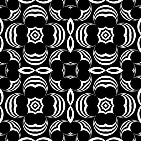 Design seamless monochrome decorative pattern. Abstract background. Vector art