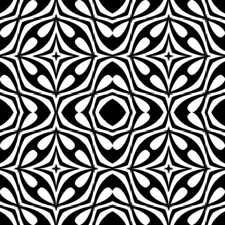 Design seamless geometric pattern. Abstract monochrome background. Vector art Illustration