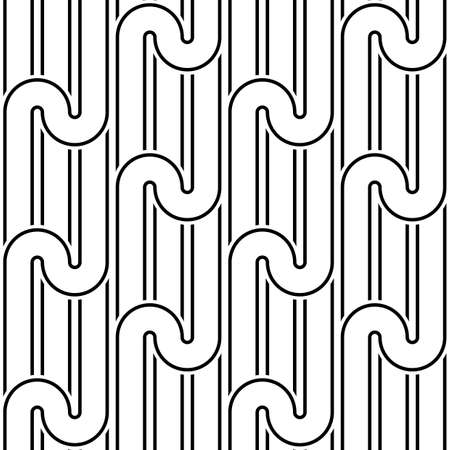 Design seamless monochrome waving pattern. Abstract background. Vector art Stock Vector - 79942179