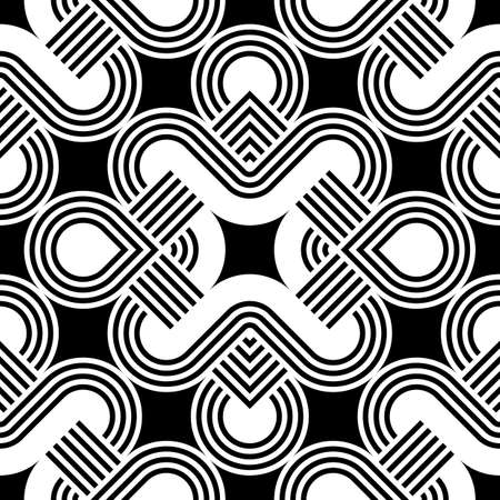 streaks: Design seamless monochrome decorative pattern. Abstract striped background. Vector art Illustration