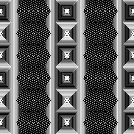 diamond texture: Design seamless monochrome geometric pattern. Abstract striped background. Vector art. No gradient