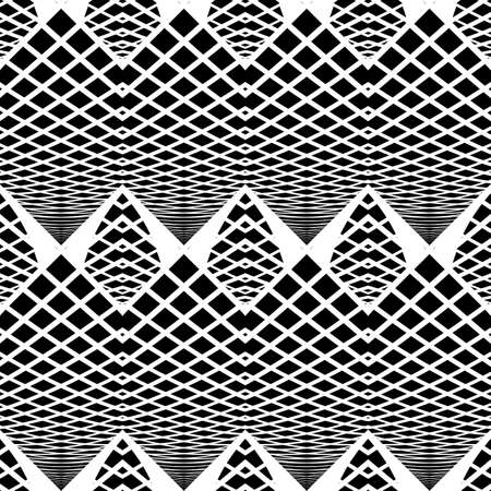 diamond texture: Design seamless monochrome zigzag pattern. Abstract grid background. Vector art. No gradient