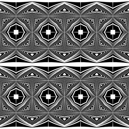 grid: Design seamless monochrome decorative pattern. Abstract lines textured background. Vector art. No gradient