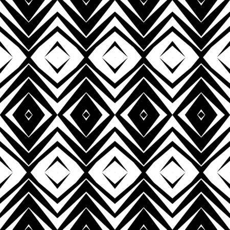 grid: Design seamless diamond pattern. Abstract geometric monochrome background. Vector art. No gradient Illustration