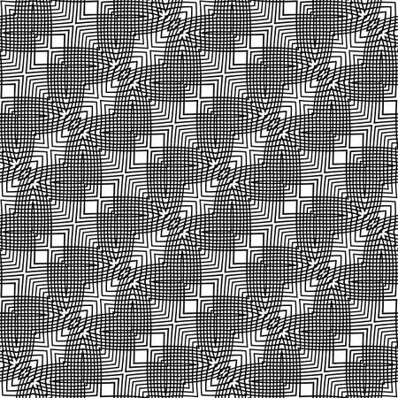 grid: Design seamless monochrome grid pattern. Abstract background. Vector art. No gradient