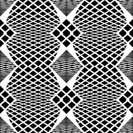 Design seamless monochrome square pattern. Abstract grid background. Vector art. No gradient Illustration