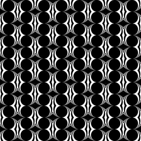 stripy: Design seamless monochrome ellipse pattern. Abstract decorative background. Vector art Illustration