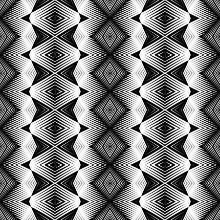 Design seamless monochrome diamond pattern. Abstract geometric background. Vector art. No gradient