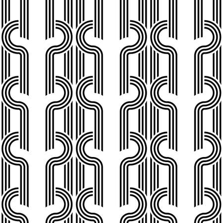 Design seamless monochrome pattern. Abstract background. Vector art