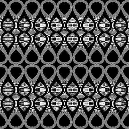 Design seamless monochrome waving pattern. Abstract decorative background. Vector art Illustration