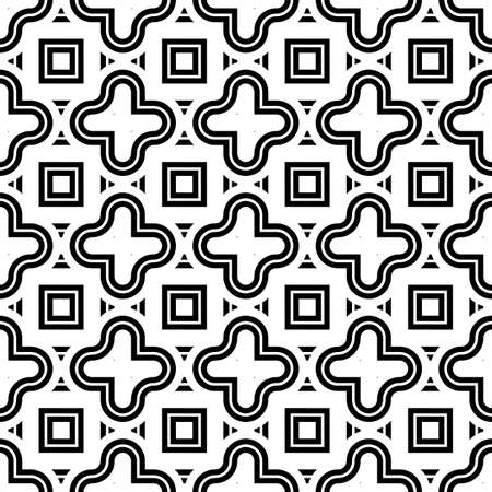 Design seamless monochrome geometric pattern. Abstract stripy background. Vector art