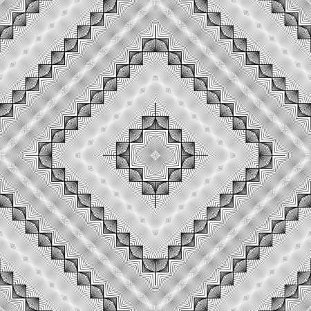 stripy: Design seamless monochrome diamond pattern. Abstract decorative background. Vector art. No gradient Illustration