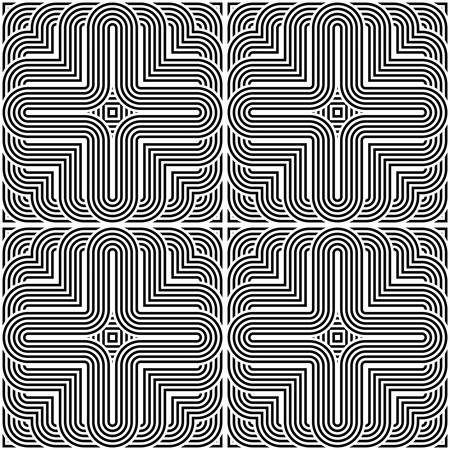stripy: Design seamless monochrome striped pattern. Abstract background. Vector art