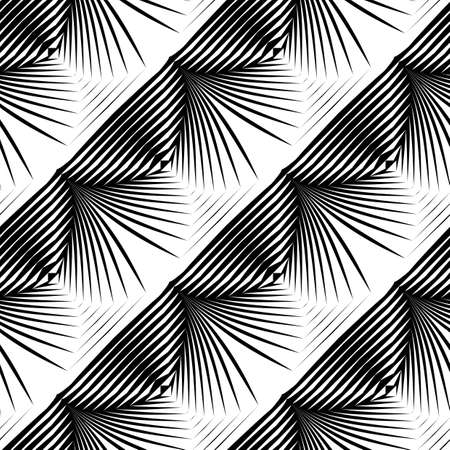 Design seamless monochrome shell pattern. Abstract striped background. Vector art. No gradient Illustration