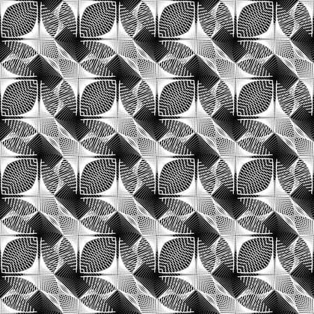 Design seamless monochrome grid pattern. Abstract decorative background. Vector art. No gradient Ilustração