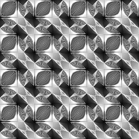 Design seamless monochrome grid pattern. Abstract decorative background. Vector art. No gradient Illustration