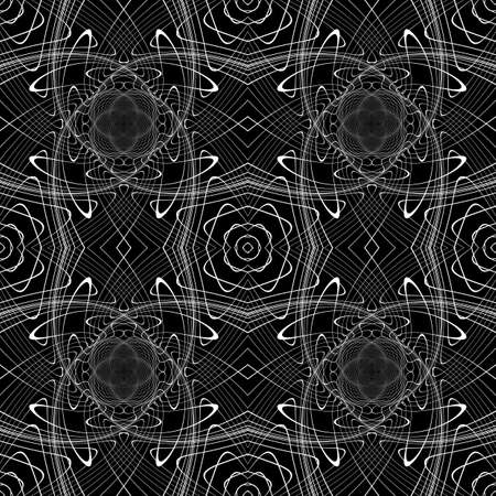 Design seamless monochrome waving pattern. Abstract background. Vector art. No gradient Stock Vector - 83369678
