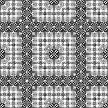 stripy: Design seamless monochrome lacy pattern. Abstract decorative background. Vector art. No gradient Illustration