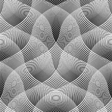 stripy: Design seamless monochrome waving pattern. Abstract background. Vector art. No gradient