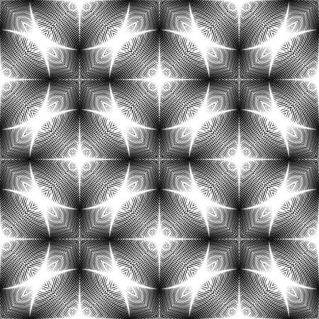 Design seamless monochrome pattern. Abstract grid textured background. Vector art. No gradient Illustration